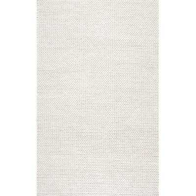 Arviso Hand-Woven Wool White Area Rug, 10' x 14' - Wayfair