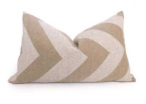 """Grande Chevron Pillow Cover - Natural /White - 12""""x20"""" - Willa Skye"""