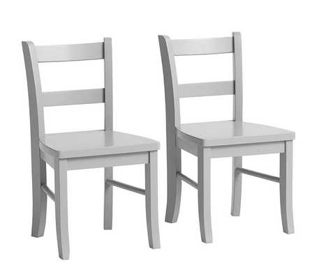 My First Chairs, Set of 2, Gray - Pottery Barn Kids