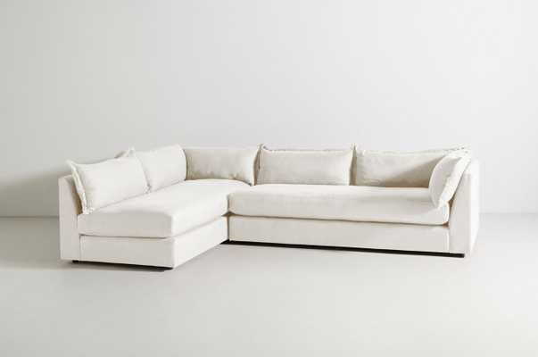 Denver Two-Piece L-Shaped Sectional - Belgian Linen in Oyster - Anthropologie