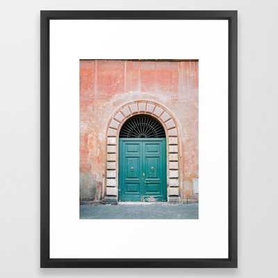 "Turquoise Green door in Trastevere, Rome. - 20"" x 26"" - Society6"