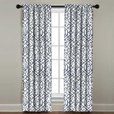 Nash Geometric Single Curtain Panel - Wayfair