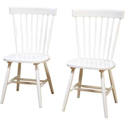 Roudebush Solid Wood Dining Chair, set of 2 - Wayfair
