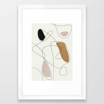 Thin Flow II Framed Art Print - Society6