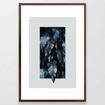 Growth II (blue) Framed Art Print - Society6