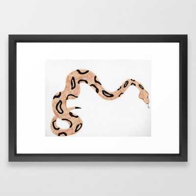 Snake Framed Art Print - Society6