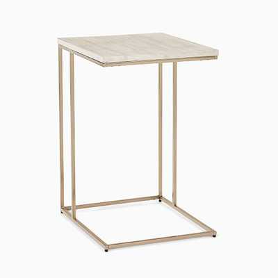 Streamline Collection C Side Table Winterwood/Light Bronze - West Elm