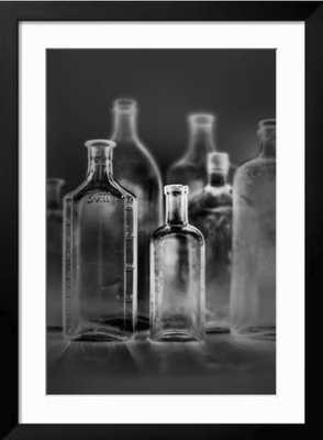 Glass Bottles - framed - art.com