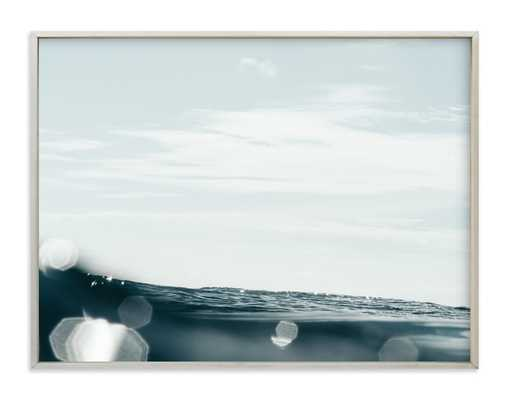 "Surface Tension 3 - 40"" x 30"", champagne silver frame - Minted"