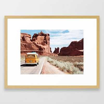 """On the road Framed Art Print by Richard Deen - 20"""" X 26"""" - Conservation Natural - Society6"""