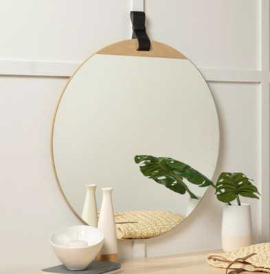 BERNADETTE WALL MIRROR, NATURAL WOOD - Lulu and Georgia