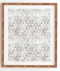 "RUSTIC DIAMOND Framed Wall Art- 8"" x 9.5"" - Wander Print Co."