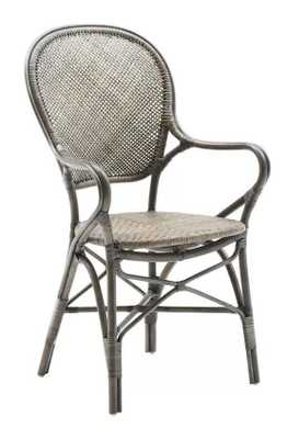 Ojas Stacking Patio Dining Chair- Taupe Gray - Wayfair