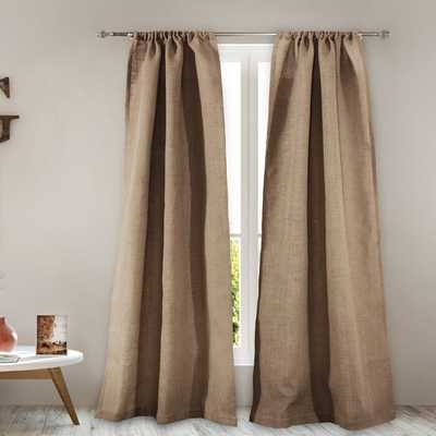 Elmira Burlap Solid Semi-Sheer Rod Pocket Panel Pair (Set of 2) - Wayfair