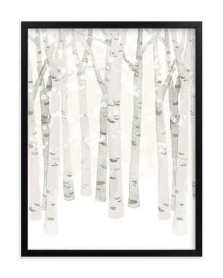 "birch woods in winter, 18"" X 24"" - Minted"