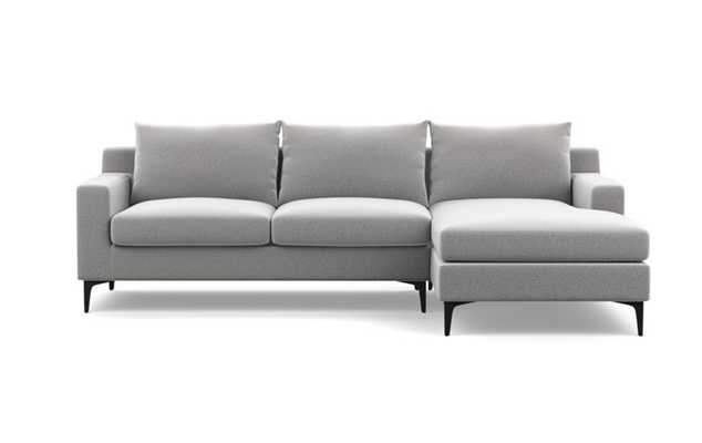 Sloan Sectional w/ Right Chaise, Ash Performance Felt - Interior Define