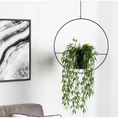 Isai Hoop Metal Hanging Planter - Wayfair