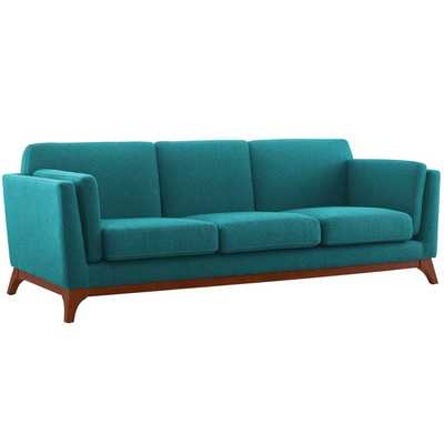 CHANCE UPHOLSTERED FABRIC SOFA IN TEAL - Modway Furniture