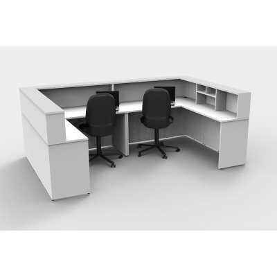 White Lynd U-Shape Reception Desk - Wayfair