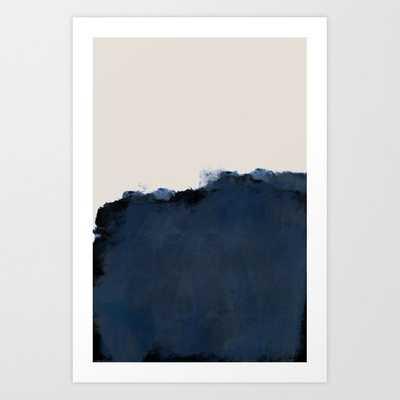 Abstract, blue, beige, indigo Art Print - Society6