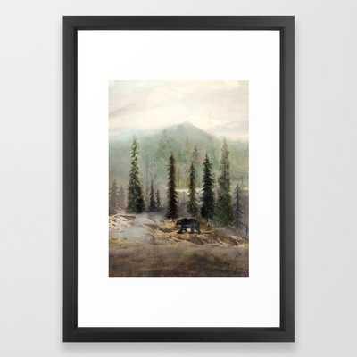 Mountain Black Bear Framed Art Print - Society6