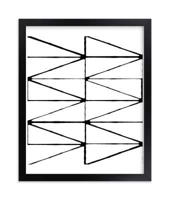 visionary 2 - 8x10 - Rich Black Wood Frame - Minted