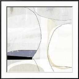 "Beholder I By Sisa Jasper-30"" x 30"" Premium Giclee Print- Ronda Ii Black 0.4"" Frame- Crisp - Bright White 3.5"" Mat- Acrylic: Clear - art.com"