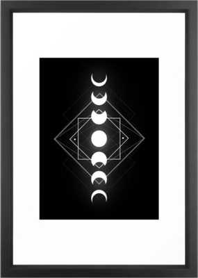 Moon Phases Framed Art Print - Society6