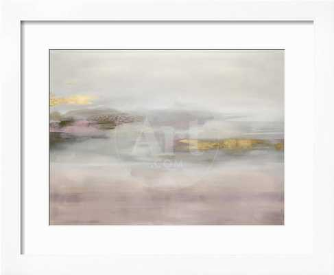 "Suspend in Blush 26"" x 22"" Gramercy White Frame - art.com"