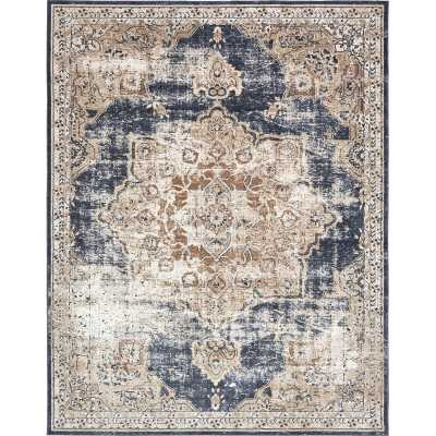 Rectangle 8' x 10' Abbeville Oriental Dark Blue Area Rug - Wayfair