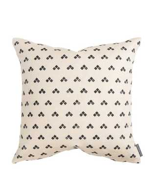 "NORAH GEO PRINT PILLOW COVER, 20"" x 20"", CHARCOAL - McGee & Co."