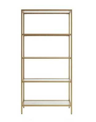 Gold and Glass Bookshelf - World Market/Cost Plus