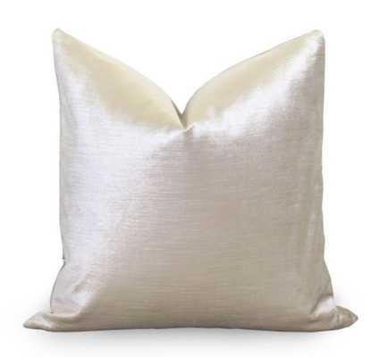 Glisten Velvet Pillow Cover - Champagne - 20x 20- Insert not included - Willa Skye