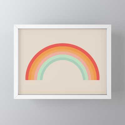 Vintage Rainbow Framed Mini Art Print by colour poems - Society6