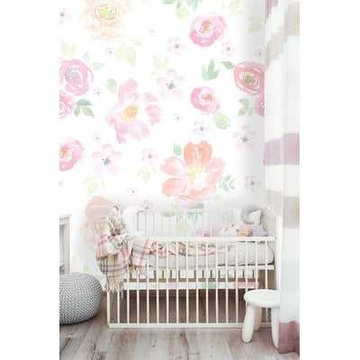 """Cantu Removable Floral Vintage Floral/  8.67' L x 150"""" W / Peel and Stick Wallpaper Roll - Wayfair"""