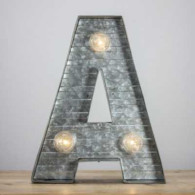 Letter A Metal Sign LED Marquee Sign - Wayfair