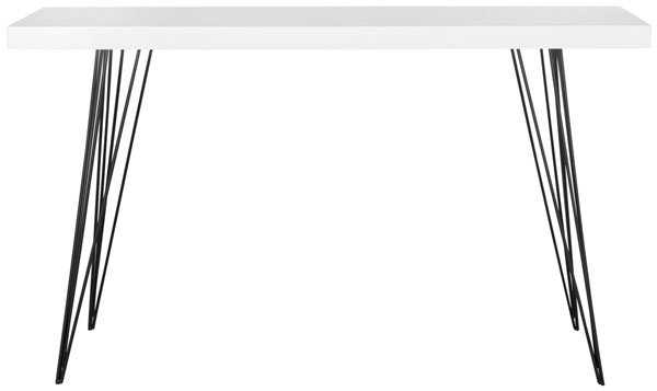Wolcott Console Table - White/Black - Arlo Home - Arlo Home