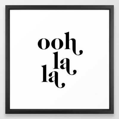ooh la la Framed Art Print - 22x22, Vector Frame White - Society6