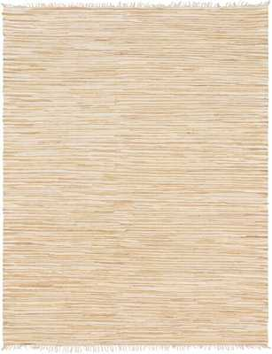 Marchan Chindi Hand-Knotted Cotton Beige Area Rug 9 x 12 - Wayfair