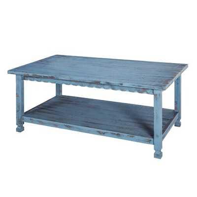 Magnum Coffee Table- Blue - Wayfair