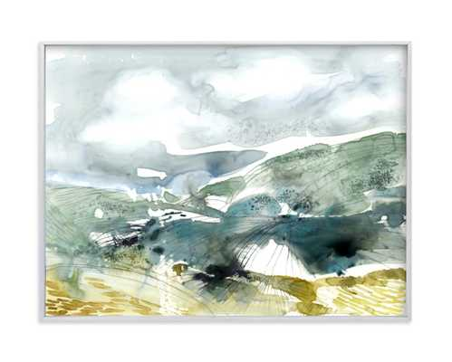 Valley - 24x18 brushed silver frame - Minted