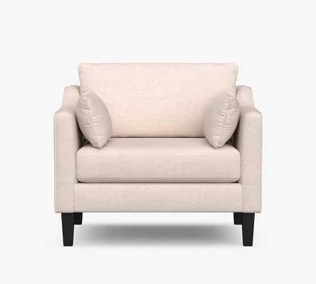 Ingrid Upholstered Armchair, Ivory Park Weave - Pottery Barn