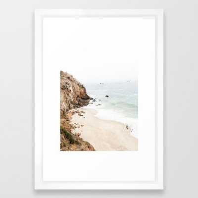 "Malibu California Beach Framed Art Print - 20x26"" vector white frame - Society6"