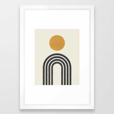 Mid century modern gold Framed Art Print - Society6