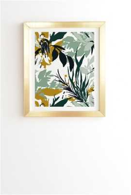 BOTANICAL BRUSHSTROKES Gold Framed Wall Art By Marta Barragan Camarasa - Wander Print Co.