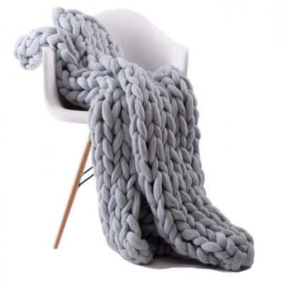 mayhill chunky knitted blanket - Wayfair