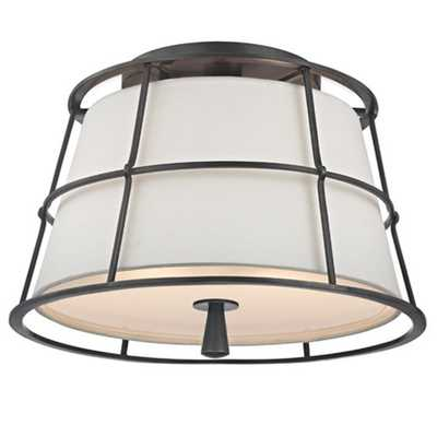 METAL GUARD LINEN SHADE CEILING LIGHT - Shades of Light