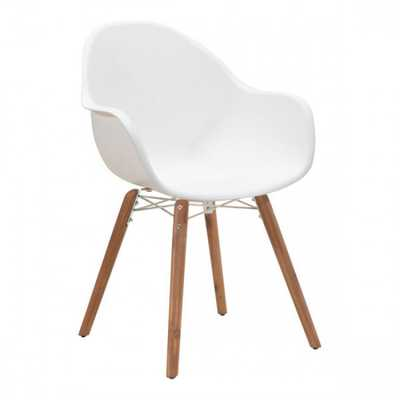 Tidal Dining Chair White, Set of 4 - Zuri Studios