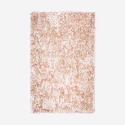 Glam Shag Rug - Rose Gold - West Elm