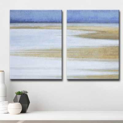 'Coast at Dawn' by Norman Wyatt Jr. 2 Piece Painting Print Set on Canvas - Wayfair